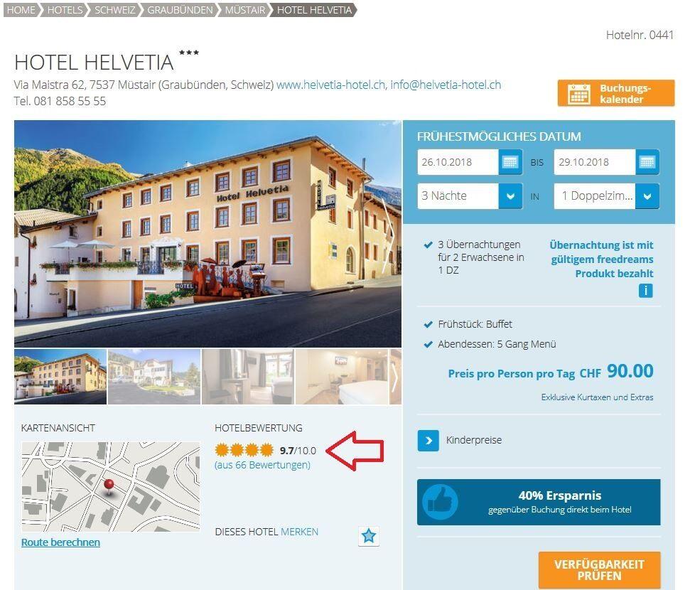 Hotelbewertungen und Kommentare
