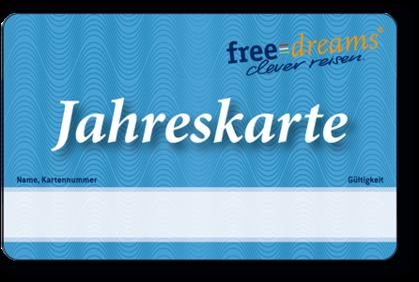 freedreams Jahreskarte für nur CHF 149.- statt CHF 199.-