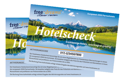 2 freedreams Hotelschecks