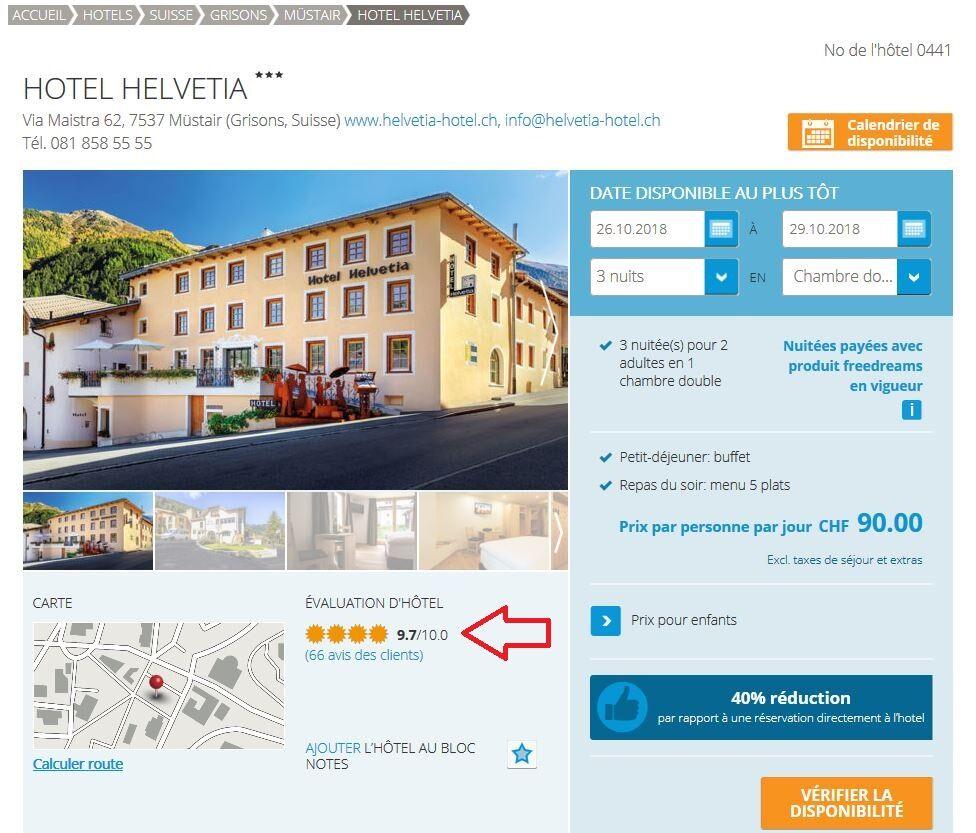 Evaluation de l'hôtel et commentaires